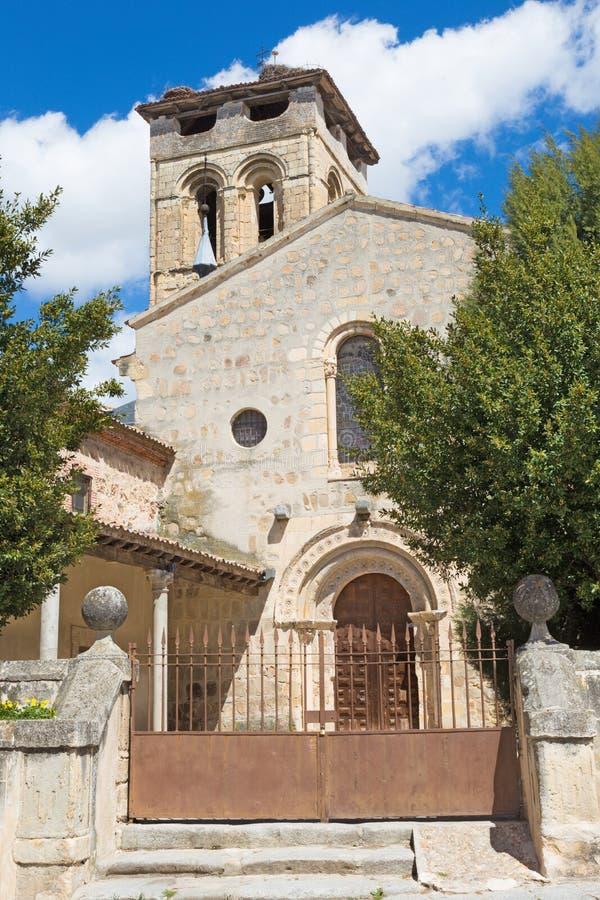 Segovia - ο Romanesque πάστορας justo Υ εκκλησιών Iglesia de Los Santos στοκ φωτογραφία με δικαίωμα ελεύθερης χρήσης