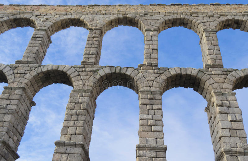 Segovia acqueduct - Spain royalty free stock image