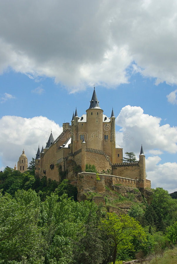 Download Segovia Alcazar stock image. Image of stronghold, cloud - 7244415