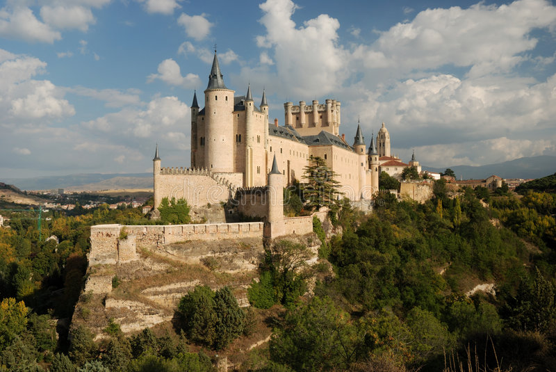 Segovia alcazara Hiszpanii obraz stock