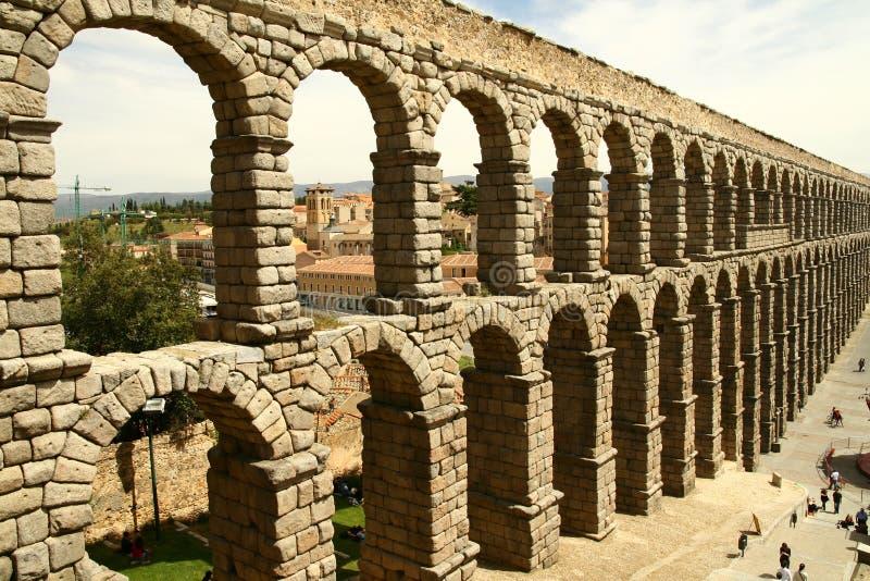 Segovia aquaduct stock foto's