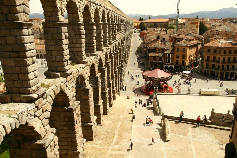 Segovia aquaduct royalty-vrije stock fotografie
