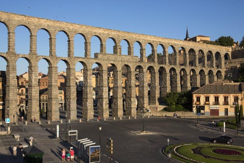 Segovia - Aquaduct romano - España foto de archivo