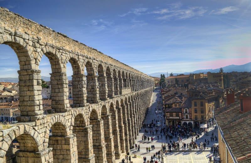 Segovia, aqueduto da Espanha imagens de stock royalty free