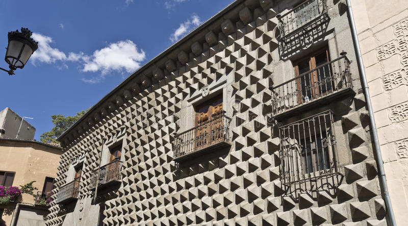 Segovia Casa DE los Picos royalty-vrije stock afbeeldingen