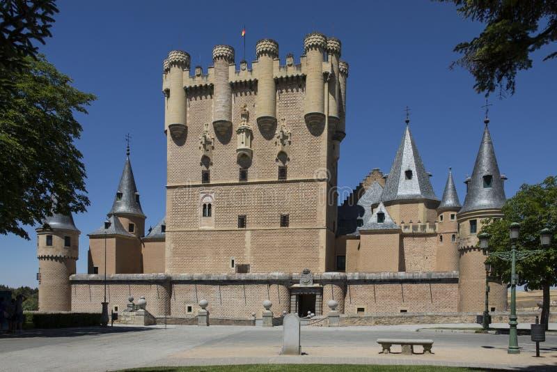 Segovia - Castillo de Coca - Spanien lizenzfreies stockfoto