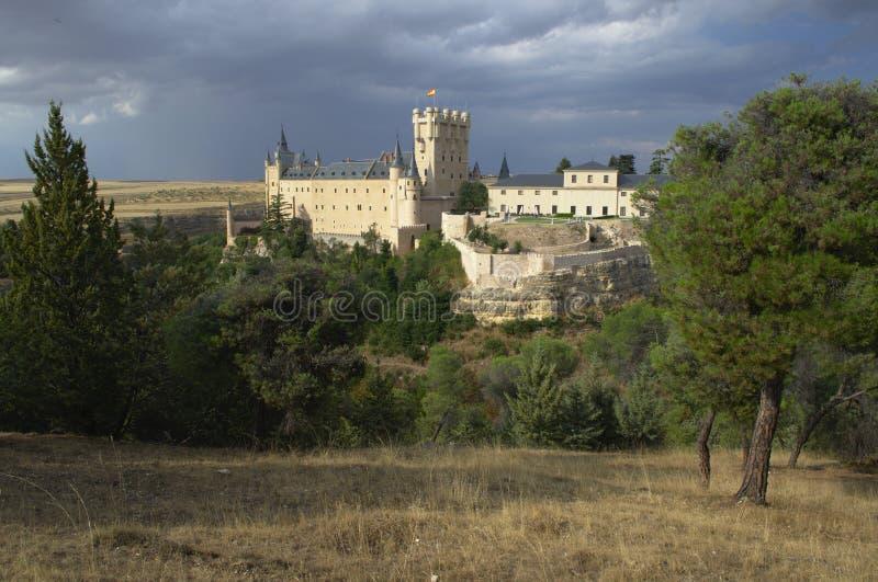 Segovia Castle και περιβάλλον τοπίο segovia Καστίλλη και Leon Ισπανία στοκ φωτογραφία