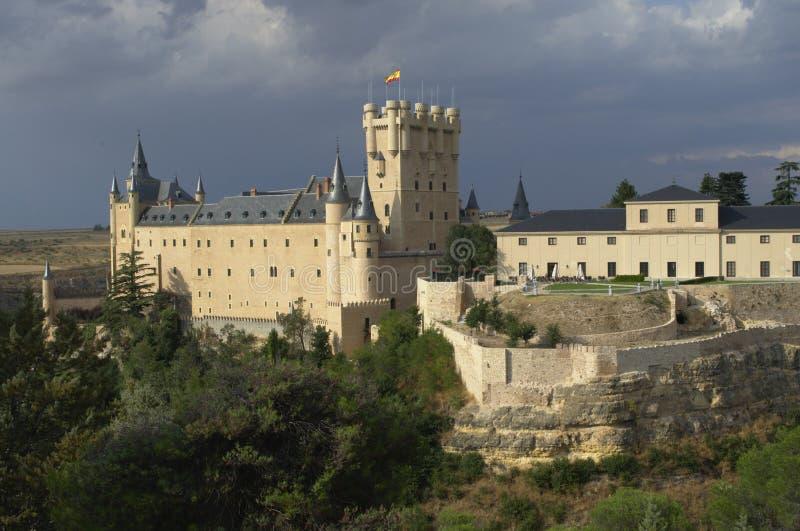 Segovia Castle και περιβάλλον τοπίο segovia Καστίλλη και Leon Ισπανία στοκ εικόνες