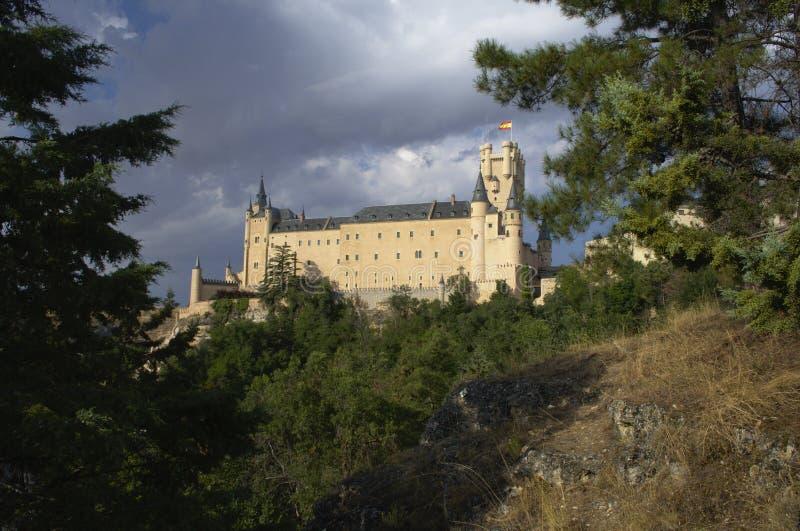 Segovia Castle και περιβάλλον τοπίο segovia Καστίλλη και Leon Ισπανία στοκ φωτογραφίες