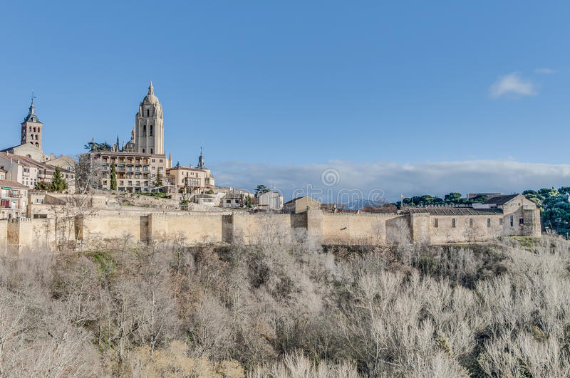 Download Segovia City Walls At Castile And Leon, Spain Stock Image - Image of religion, europe: 39508611