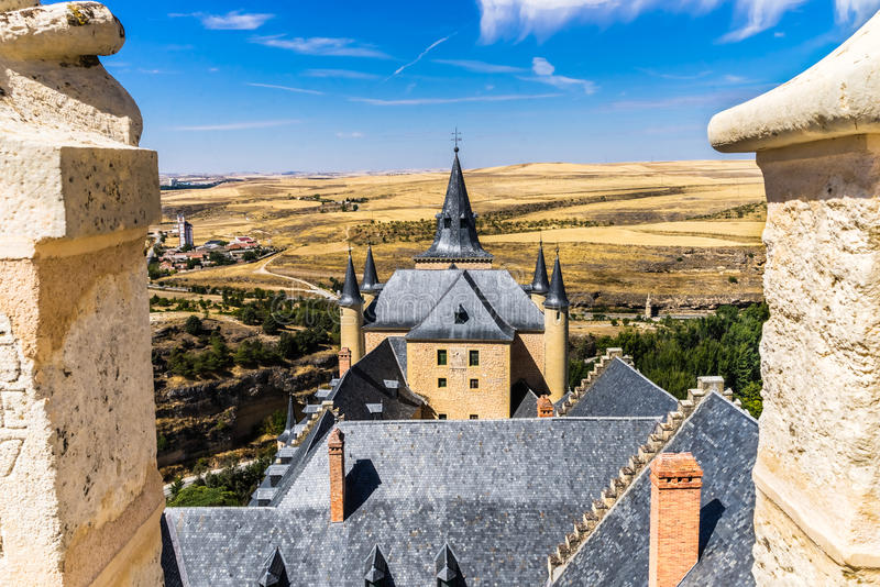 Segovia Fortress royalty free stock images