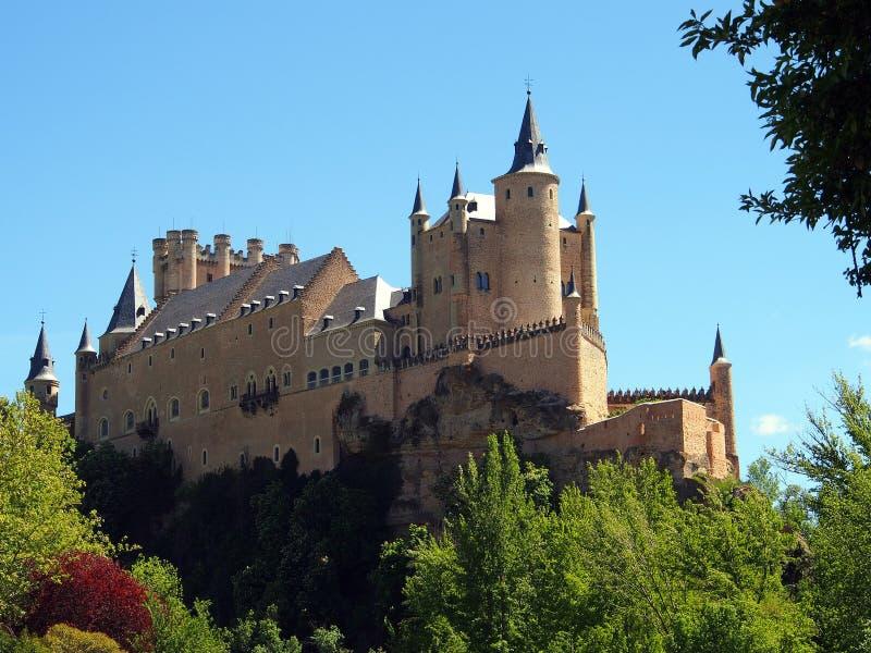 Segovia kasztel obraz royalty free