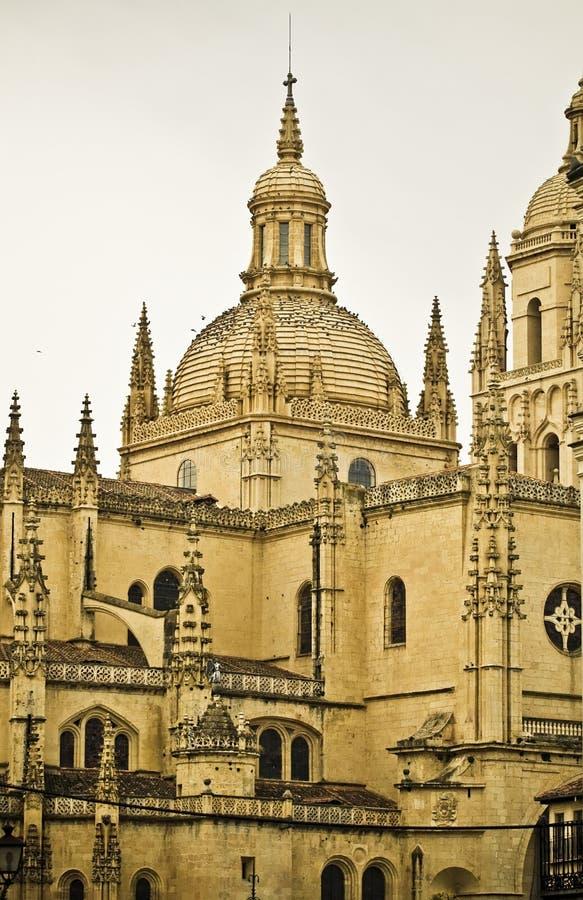 Segovia kathedraal stock foto