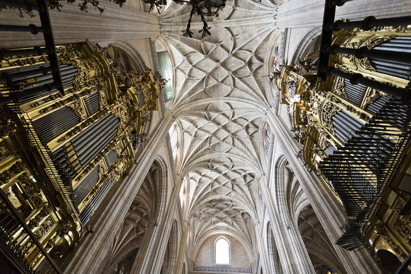 Segovia Kathedraal stock fotografie