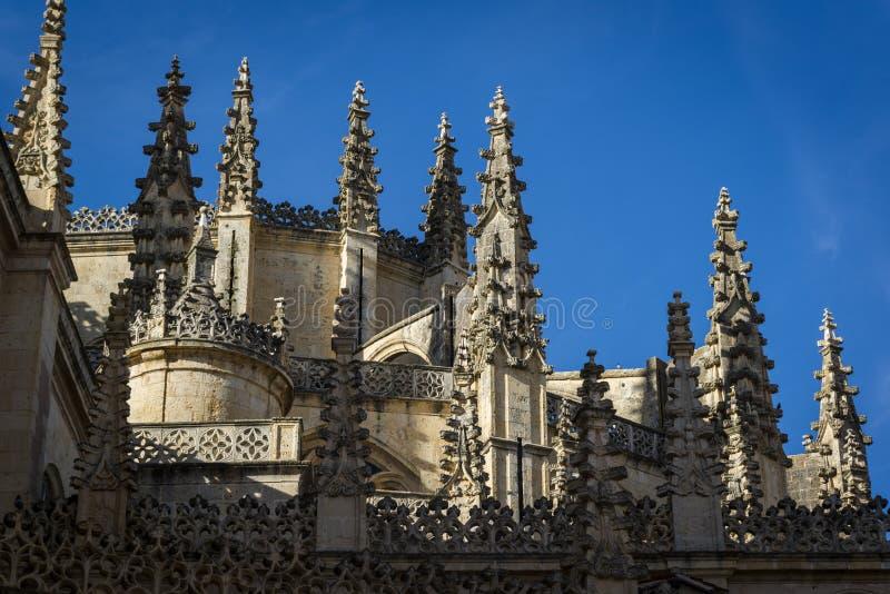 Segovia Kathedraal, Segovia, Castilla en Leon, Spanje royalty-vrije stock foto's