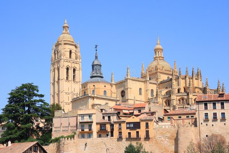 Segovia Kathedraal (Segovia, Spanje) stock foto's
