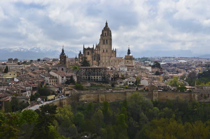 Segovia kathedraal, Spanje stock afbeeldingen