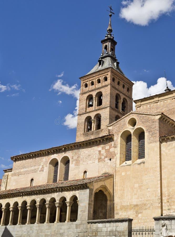 Segovia Kerk van San Martin stock afbeeldingen