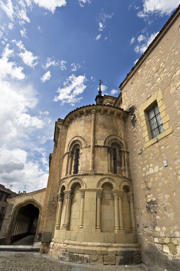 Segovia Kerk van San Martin royalty-vrije stock afbeeldingen