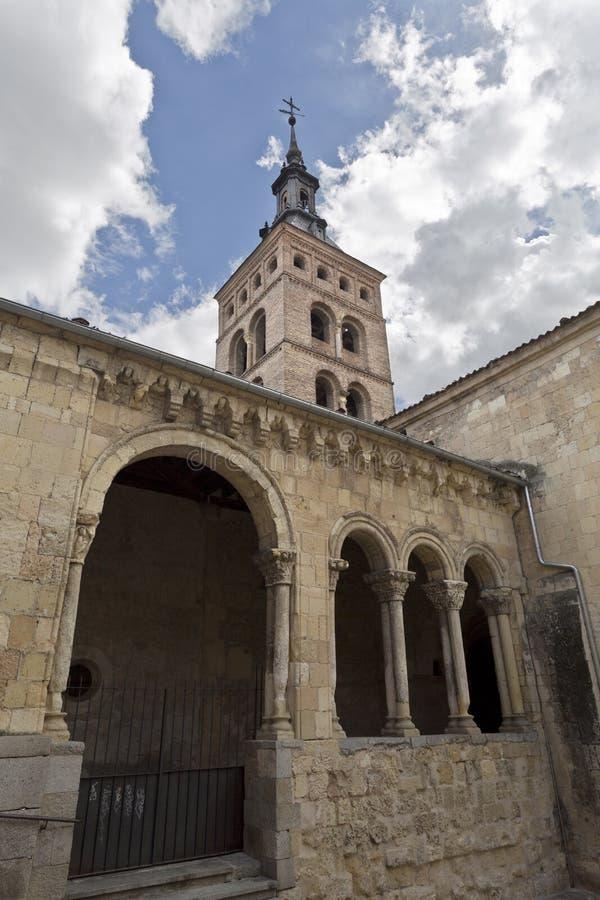 Segovia Kerk van San Martin royalty-vrije stock fotografie