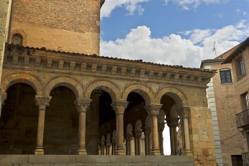 Segovia Kerk van San Martin royalty-vrije stock foto
