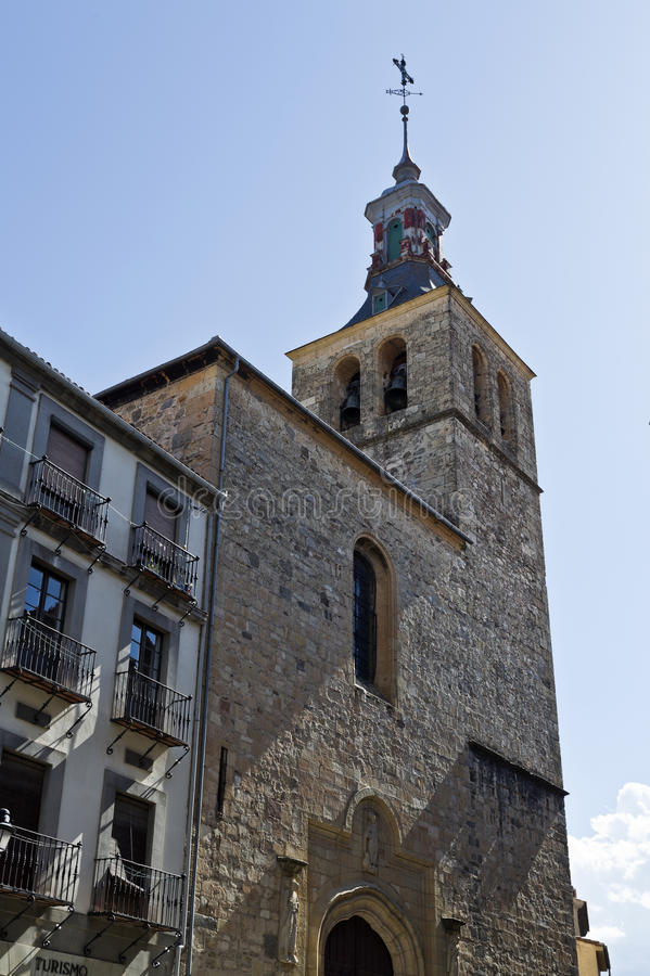 Segovia Kerk van San Miguel stock foto's
