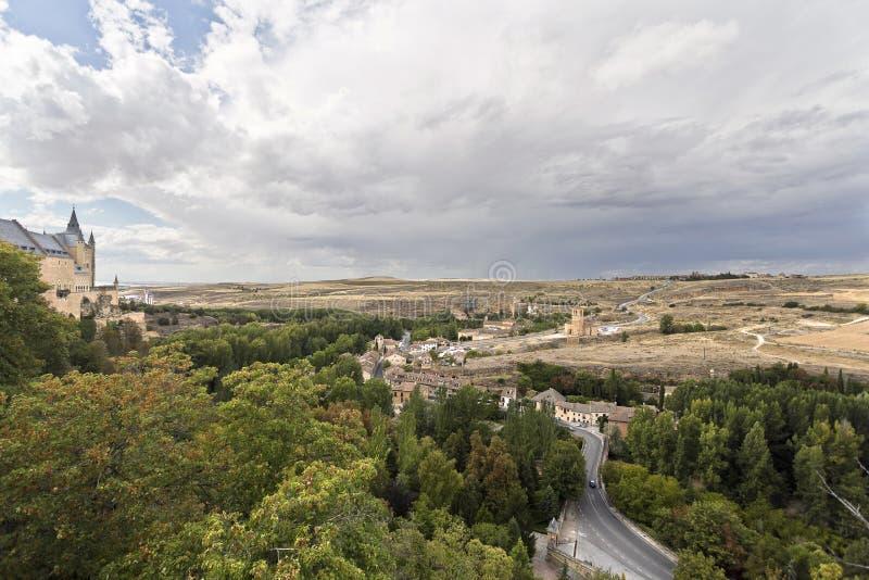 Segovia kyrka av Vera Cruz arkivfoto
