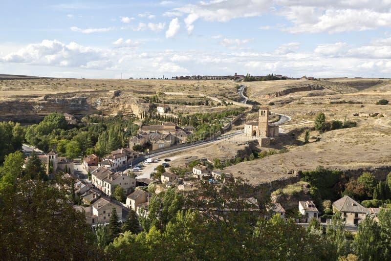 Segovia kyrka av Vera Cruz arkivbilder