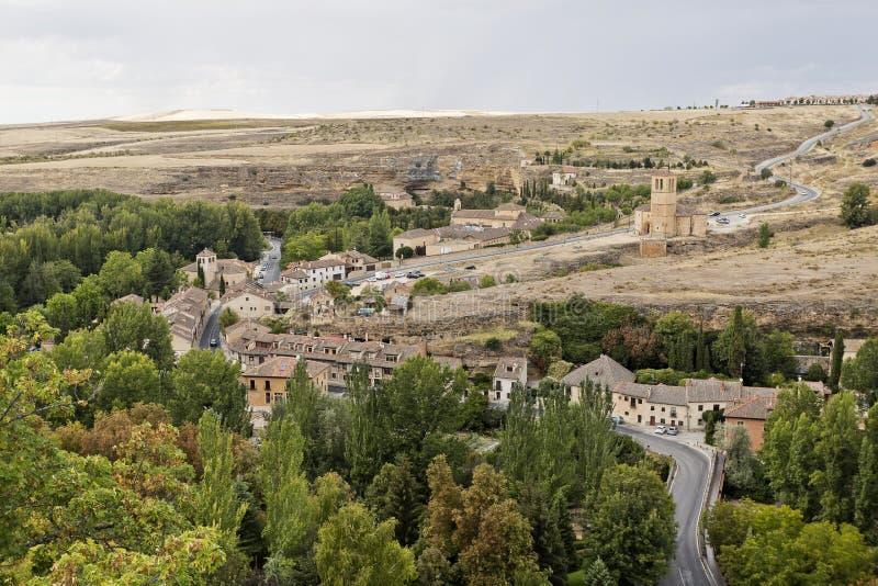 Segovia kyrka av Vera Cruz fotografering för bildbyråer