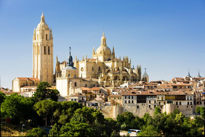 Segovia, Oliven?lseife und Leon, Spanien stockfotografie