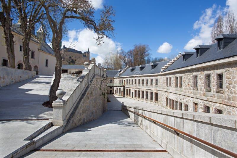 Segovia - palazzo di Real Casa de Moneda immagini stock