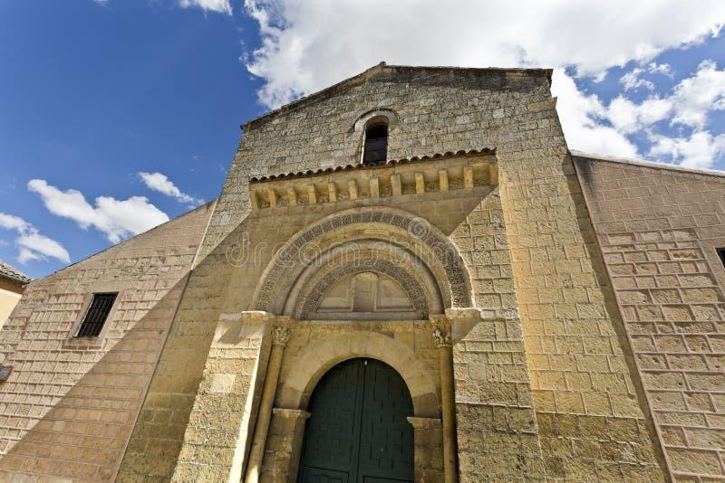 Segovia Romaanse Kerk van San Sebastian stock afbeelding