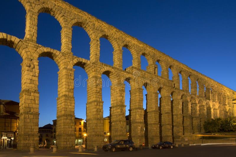 Segovia Roman Aquaduct - Spanje royalty-vrije stock fotografie