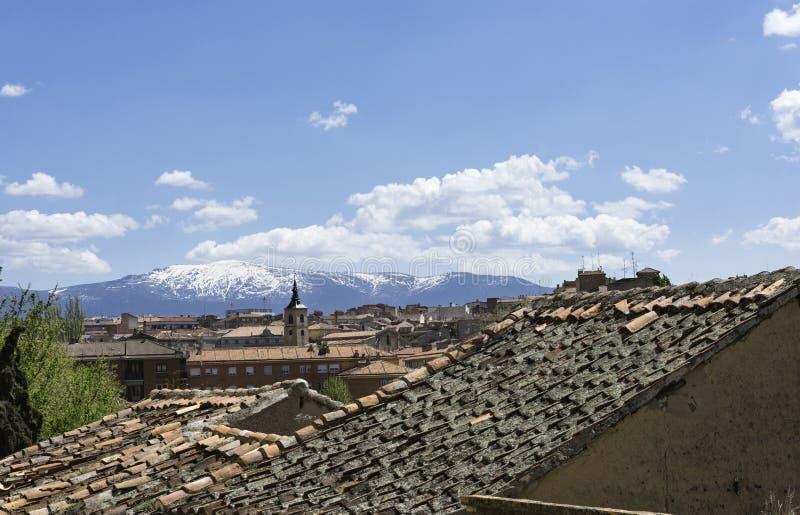 Segovia rooftops royalty free stock image