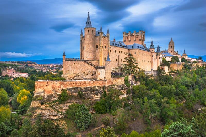 Segovia, Spagna al castello di Segovia fotografia stock libera da diritti