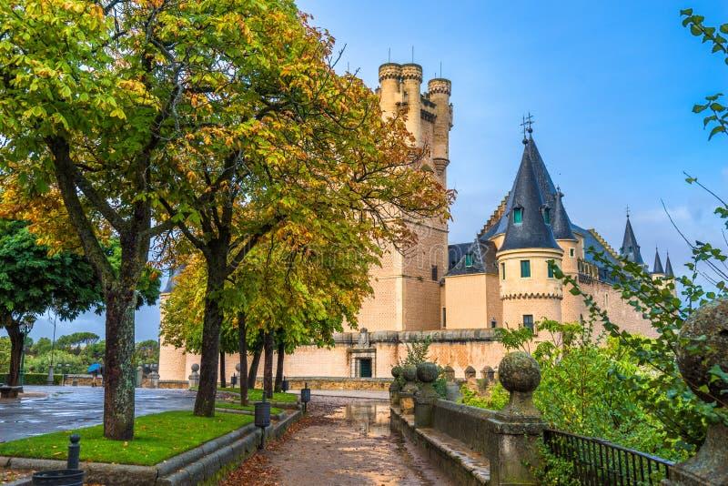 Segovia, Spagna all'alcazar fotografia stock