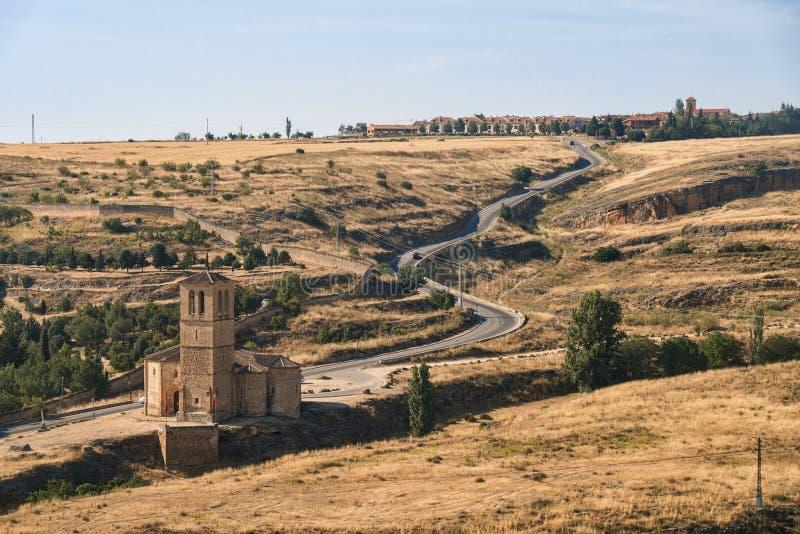 Segovia Spain: landscape from Alcazar. Segovia Castilla y Leon, Spain: landscape from the Alcazar at summer stock image