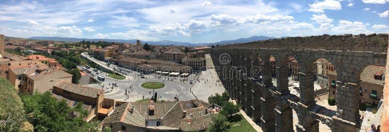 Segovia Spanien en härlig stad arkivbild
