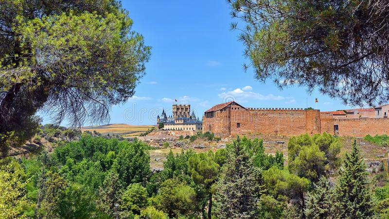 Segovia Spanje stock foto's