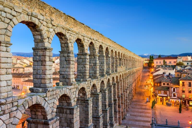 Segovia Spanje Aquaduct stock afbeelding