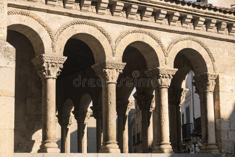 Segovia Spanje: kerk van San Martin royalty-vrije stock foto's