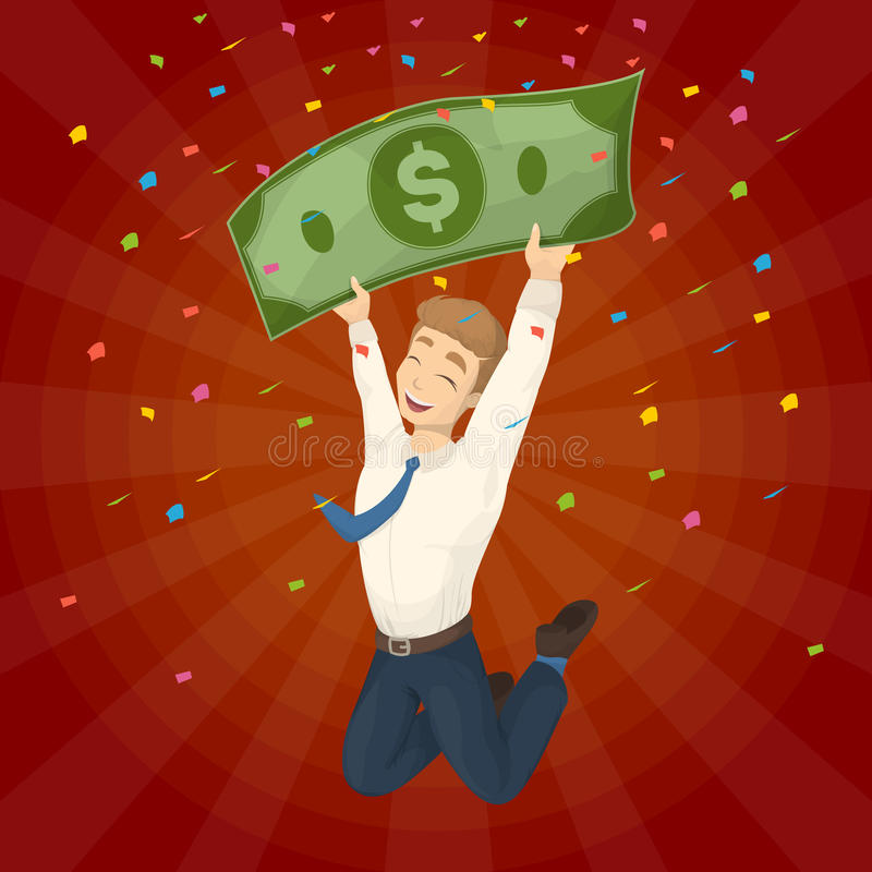 segra för lotteri royaltyfri illustrationer