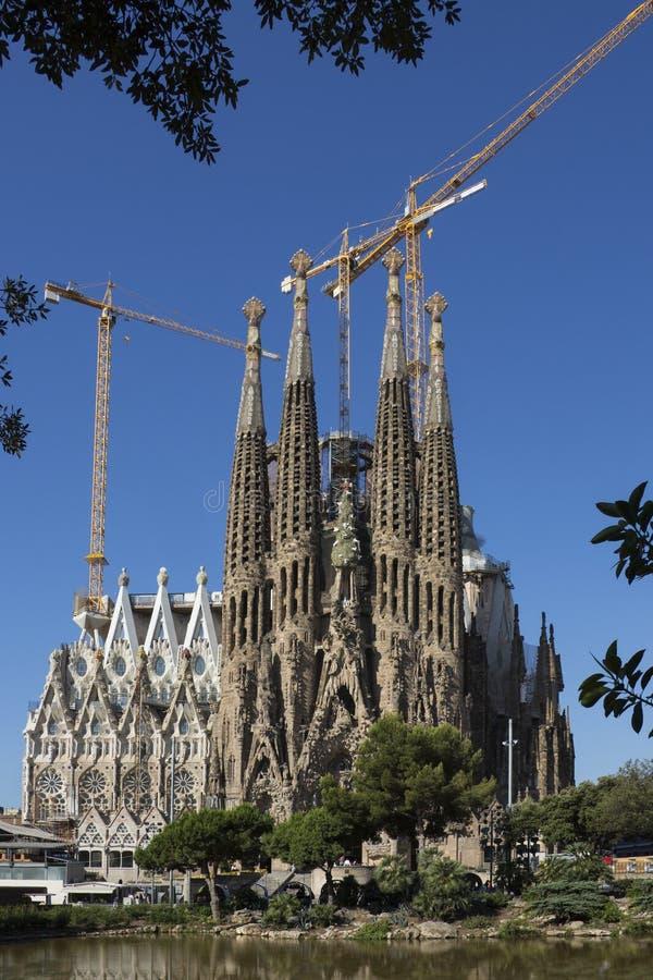Segrada Familia - Barcelone - l'Espagne images libres de droits