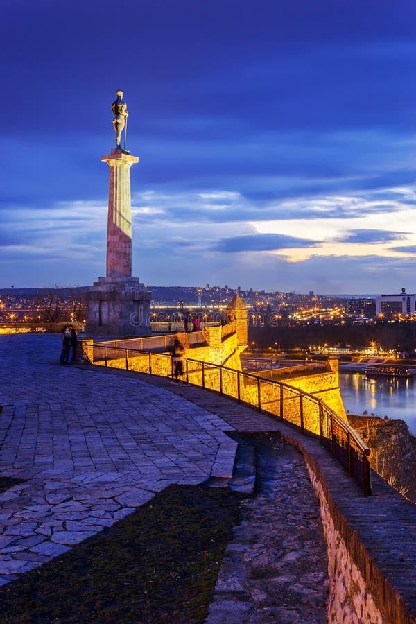 Segraremonument, Belgrade, Serbien royaltyfria foton