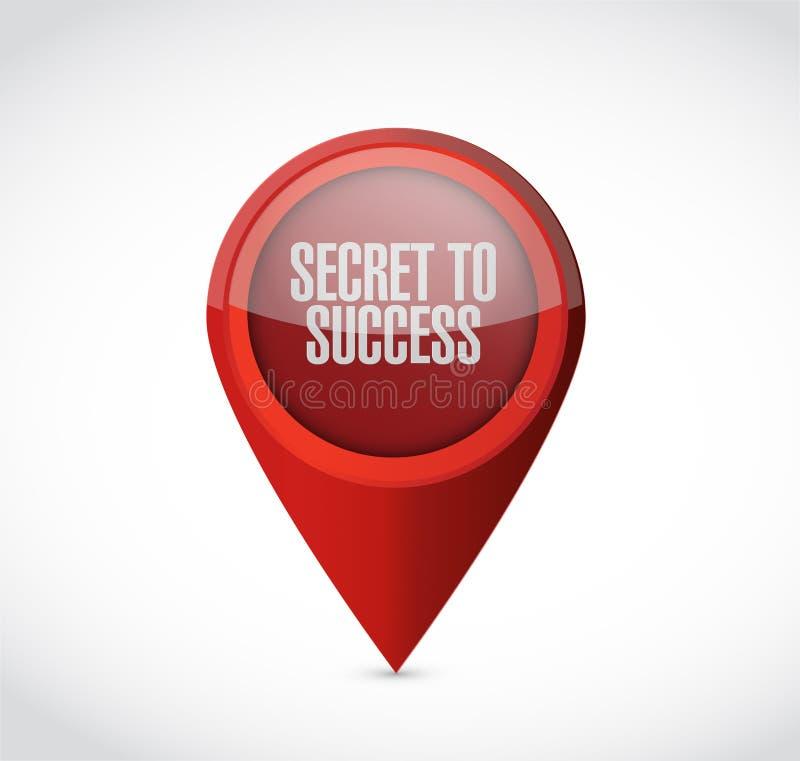segredo ao conceito do sinal do ponteiro do sucesso ilustração do vetor