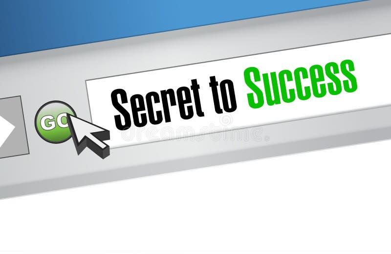 segredo ao conceito em linha do sinal do sucesso ilustração do vetor