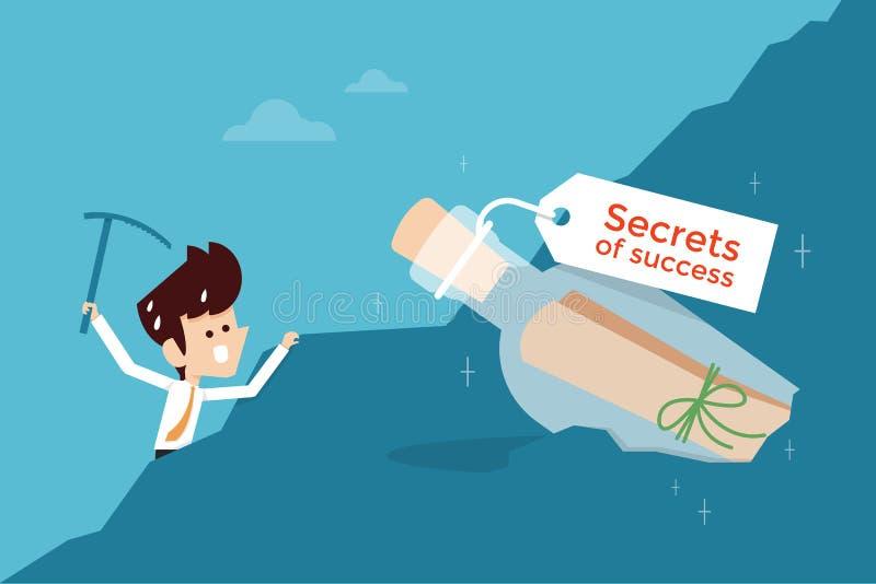 Segredo do sucesso ilustração stock