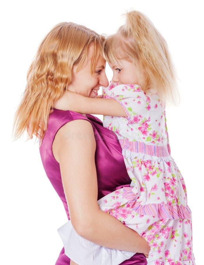 Segredos da mãe e da filha fotos de stock royalty free