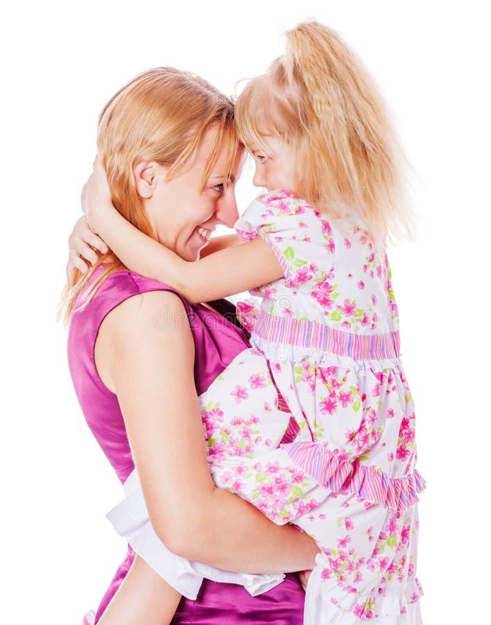 Segredos da mãe e da filha fotografia de stock royalty free