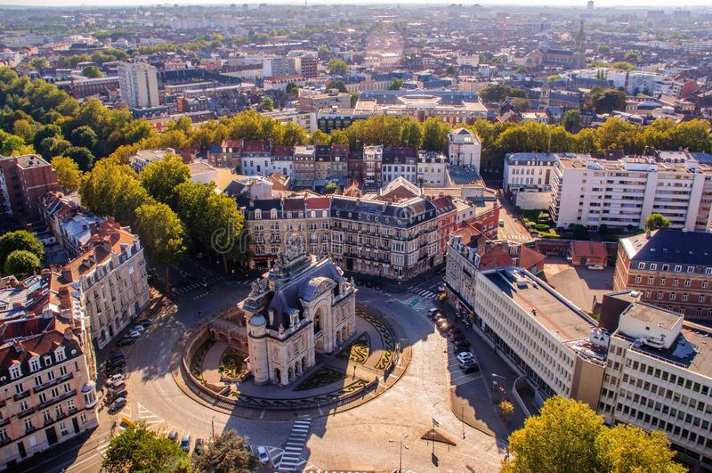 Segredos de Lille: 'Mini Arc de Triomphe ' imagem de stock